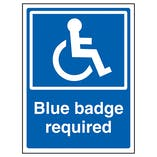 Blue Badge Required