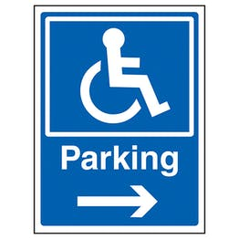 Disabled Parking Arrow Right