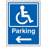 Disabled Parking Arrow Left