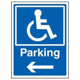 Disabled Parking Arrow Left