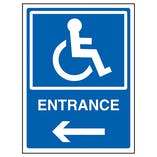 Disabled Entrance Arrow Left