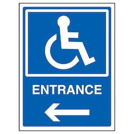 Disabled Entrance Arrow Left