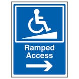 Ramped Access Arrow Right