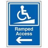 Ramped Access Arrow Left