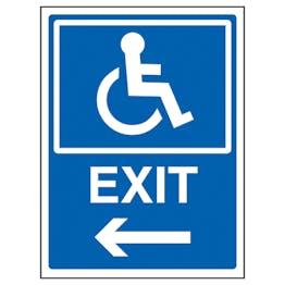 Disabled Exit Arrow Left