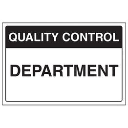 Quality Control - Department