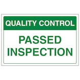 Quality Control - Passed Inspection