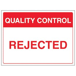Quality Control - Rejected