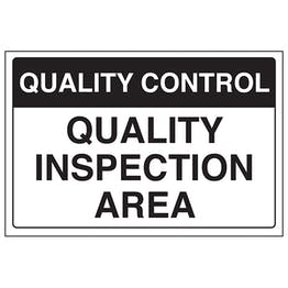 Quality Control - Quality Inspection Area
