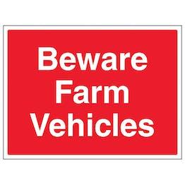 Beware Farm Vehicles - Large Landscape