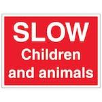 Slow, Children And Animals - Large Landscape