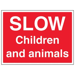 Slow, Children And Animals - Large Landscape