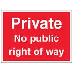 Private No Public Right Of Way - Large Landscape