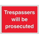 Trespassers Will Be Prosecuted - Large Landscape