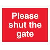 Please Shut The Gate - Large Landscape