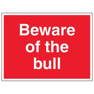 Beware Of The Bull - Large Landscape