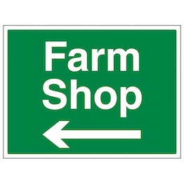 Farm Shop Arrow Left - Large Landscape