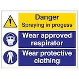 Danger Spraying In Progress - Large Landscape