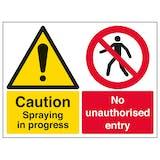 Caution Spraying In Progress - Large Landscape