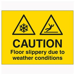 Caution Floor Slippery Due To Weather Conditions