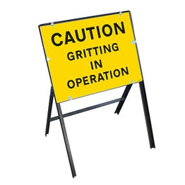 Caution Gritting In Operation with Stanchion Frame