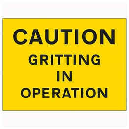 Caution Gritting In Operation