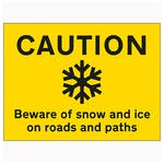 Caution Slippery Surface Beware Of Snow and Ice On...
