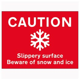 Caution Slippery Surface Beware...Snow and Ice - Landscape