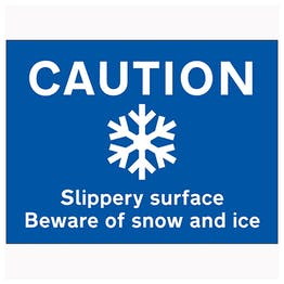 Caution Slippery Surface Beware Of Snow and Ice - Large Landscape