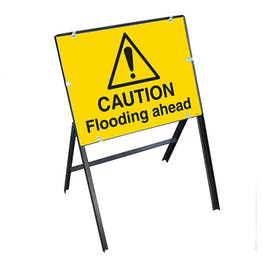 Caution Flooding Ahead with Stanchion Frame