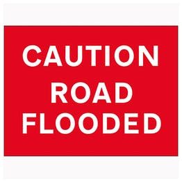 Caution Road Flooded