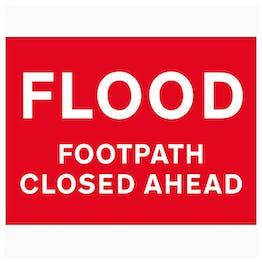 Flood / Footpath Closed Ahead