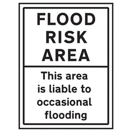 Flood Risk Area / This Area Is Liable To Occasional Flooding