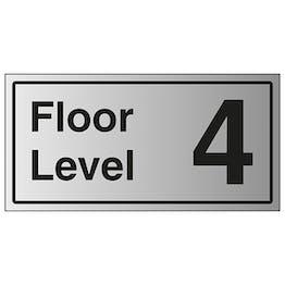 Floor Level 4 - Aluminium Effect