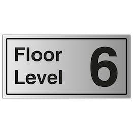 Floor Level 6 - Aluminium Effect