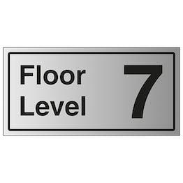 Floor Level 7 - Aluminium Effect