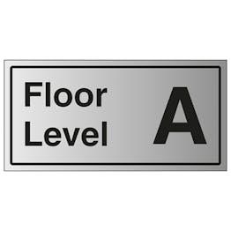 Floor Level A - Aluminium Effect