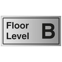 Floor Level B - Aluminium Effect