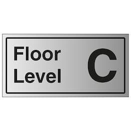 Floor Level C - Aluminium Effect