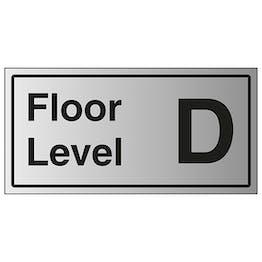 Floor Level D - Aluminium Effect