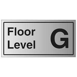 Floor Level G - Aluminium Effect
