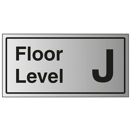 Floor Level J - Aluminium Effect