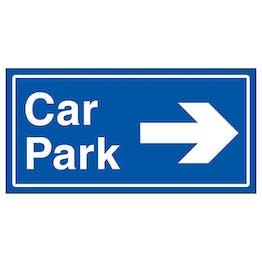 Car Park Arrow Right Blue