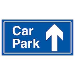 Car Park Arrow Up Blue