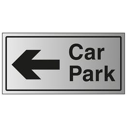 Car Park Arrow Left - Aluminium Effect
