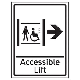 Accessible Lift Arrow Right