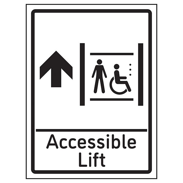 Accessible Lift Arrow Up