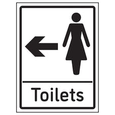 Womens Toilets Arrow Left