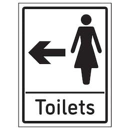 Womens Toilets Arrow Left