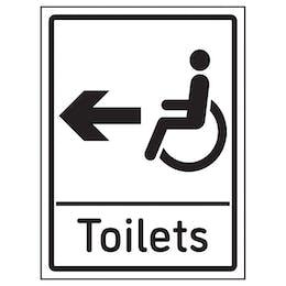 Disabled Toilets Arrow Left
